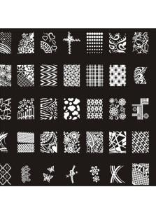Designs Nail Art Stamp Image PlateBig Nail Art TemplatesNail Stencils