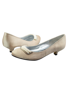 Grace Champagne Beading Silk And Satin Wedding Bridal Shoes
