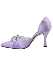 Romantic Lavender Silk And Satin Wedding Bridal Shoes