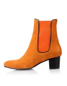 fashion-yellow-chunky-heel-nubuck-womens-chelsea-boots