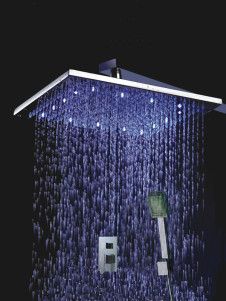 Great Stainless Handle Color Changing Led Shower Set Panel With Hand Shower