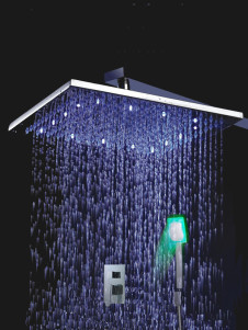 Stainless Handle Color Changing Led Shower Set Panel With Hand Shower