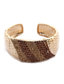 Fashion Gold Rhinestone Pattern Metal Women's Wedding Bracelet