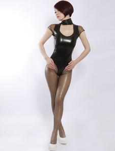 Image of Abbigliamento in lattice collant nero per adulti unisex  Carnevale
