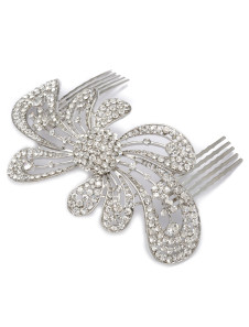 Image of Elegante argento metallico moda matrimonio tornante