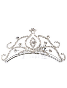 Image of Chic argento Metal Fashion Wedding Tiara