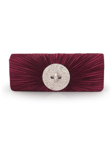 Modern Rhinestone Artwork Silk Womens Clutch Bag