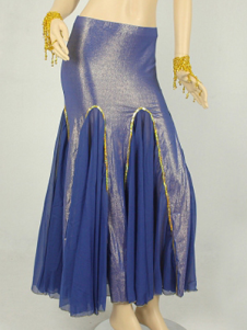 Grace Blue Chiffon Belly Dance Long Mermaid Skirt