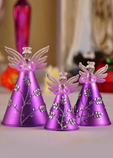 Charming Purple Angels Table Centerpiece Set