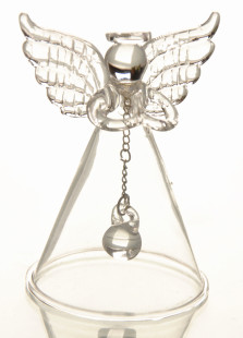 Charming Glass Angel Bell Table Centerpiece