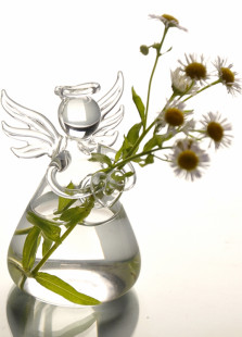 Sweet Angel Glass Flower Vase Table Centerpiece