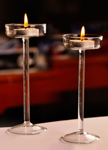 Chic European Style High Slimlegged Glass Candlestick