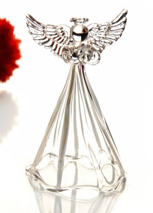 Shiny Transparent Glass Angel Table Centerpiece
