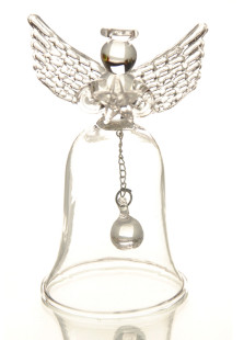 Transparent Glass Angel Table Dinner Bell