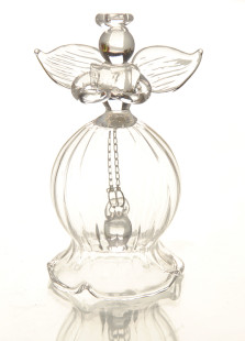 Blessing Angel Bell Glass Table Centerpiece
