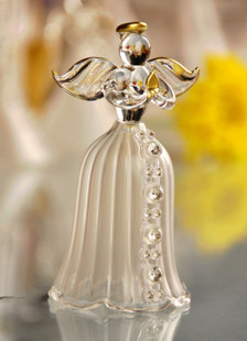 Western Style Glass Angel Table Centerpiece