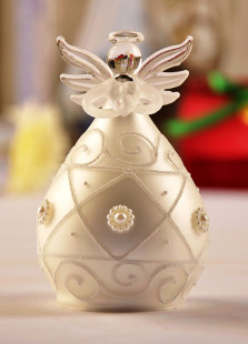 Grace Pearl Glass Blessing Angel Table Centerpiece