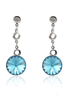 sweet-round-blue-forever-metal-wedding-dangle-earrings