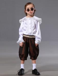 Image of Abito da cerimonia per ragazzino in finta seta con pantaloni