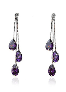 sweet-purple-forever-metal-wedding-dangle-earrings