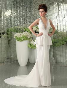 ivory-sheath-v-neck-beading-bridal-wedding-gown