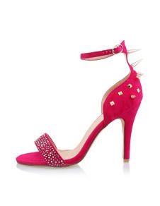 Sandali alla moda color roseo sexy