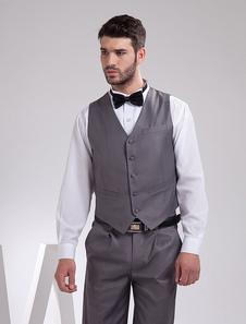 modern-grey-serge-buttons-v-neck-tailored-wedding-groom-vest