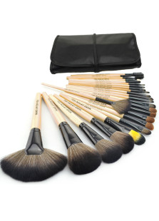 Natural Wooden Professional Make Up Brush Set 24 Pieces