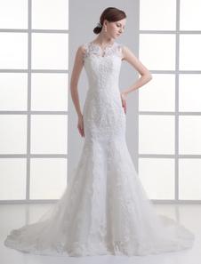 ivory-mermaid-beading-lace-wedding-dress-for-bride