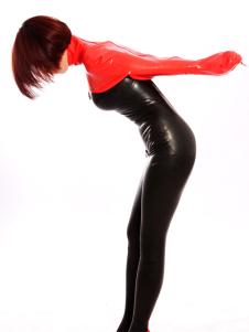 Image of Abbigliamento in lattice con accessori per corsetto rosso per adulti unisex  Carnevale