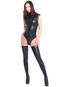 Black Unisex Latex Bodysuit