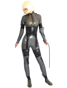 halloween-shaping-warrior-woman-latex-catsuit