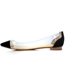Milanoo UK  Casual Transparent Pointed Toe Women's Ballet Flats
