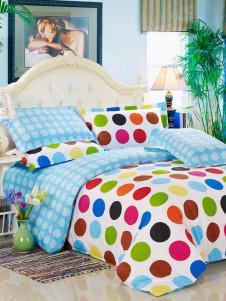 Milanoo UK  Nice Blue 4 Piece Polka Dot Print Cotton Bedding Sets