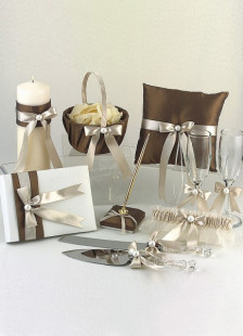 Shimmering Gold Satin Collection  Set of 8