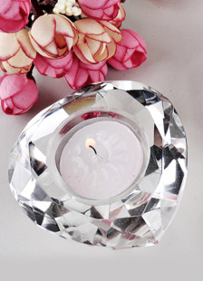 Heart Shaped Crystal Tealight Holders (Set of 4)