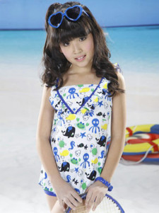 cute-animal-print-ruffles-polyester-girls-swimwear
