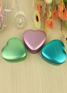 Cute Personalized Heart Shape Purple Medium Tin Boxes For Wedding(Set of 24)