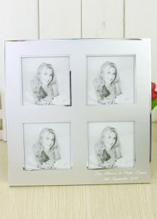 white-aluminum-personalized-wedding-picture-frame