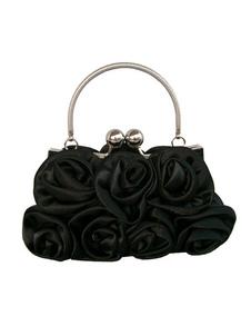 Image of Borsa da sera nera a fiori