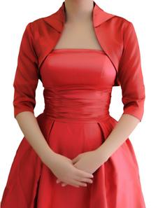 red-half-sleeves-satin-bridal-wedding-jackets