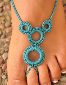 beach-wedding-footwear-elegant-blue-circles-rochet-fashion-barefoot-shoe-accessories