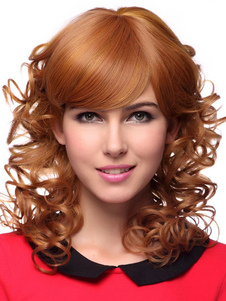 lovable-tan-human-hair-long-curly-stylish-woman-synthetic-wig