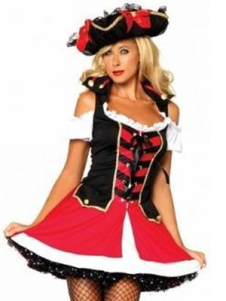 halloween-red-lace-up-two-tone-polyester-women-s-adult-pirate-costume