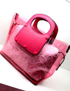 Elegant Lace PVC Women's Tote Bag