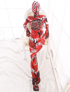 Fashion Multi Color Unisex Animal Print Lycra Spandex Cool Multicolor Zentai Suits
