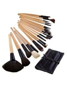 Chic 24 PC negro pinceles de maquillaje de moda de la mujer