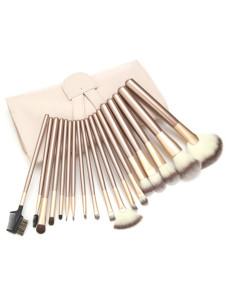 Lovely 18 Pcs Khaki Fashion Makeup Brushes For Woman