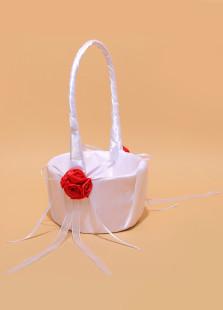 lovable-white-flower-ribbon-flower-girl-basket