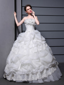 Ball Gown Strapless Wedding Gown